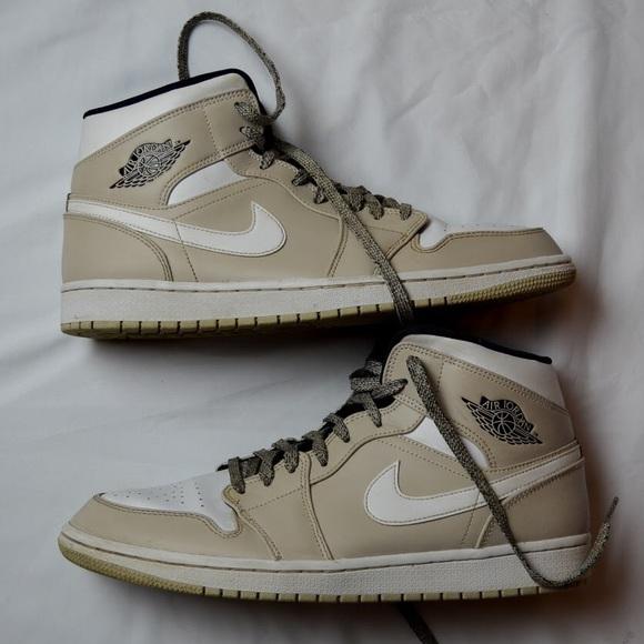 f2b51fff105 Nike Shoes | Air Jordan 1 Mid Desert Sandwhite | Poshmark